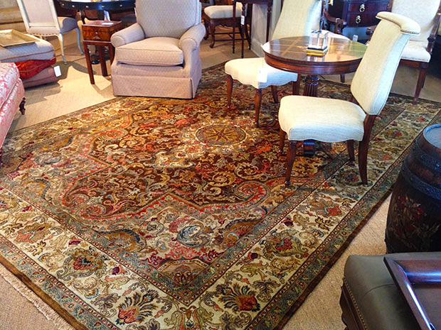 Featured Carpet Jewel Bronze Ivory From The Golden Age Collection Designed By Carolina Carpets Williamsburg Va